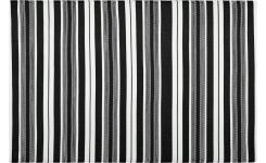 Outdoor Rug Black and White  120x180cm