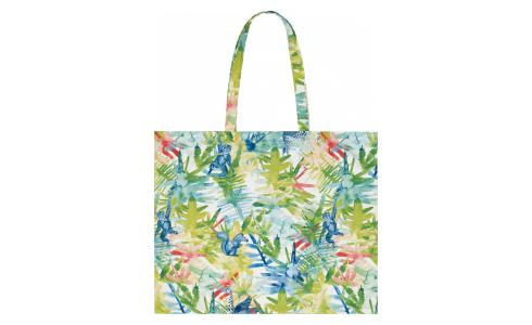 Multi-coloured Cotton Beach Bag 55x45cm