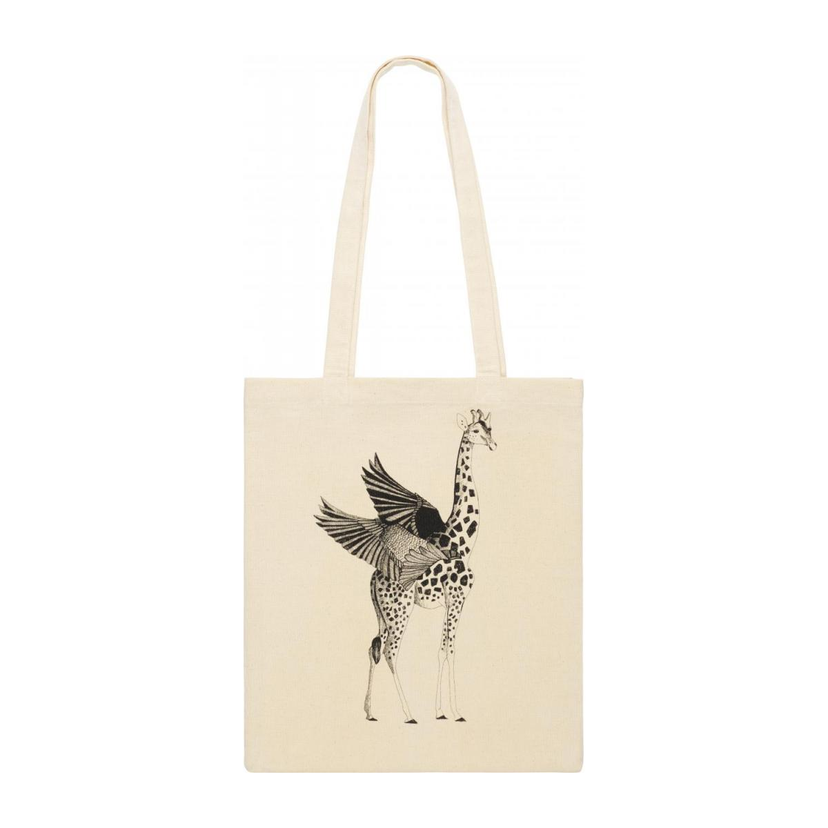 Black and White Patterned Cotton Shopping Bag 35x40cm n°1