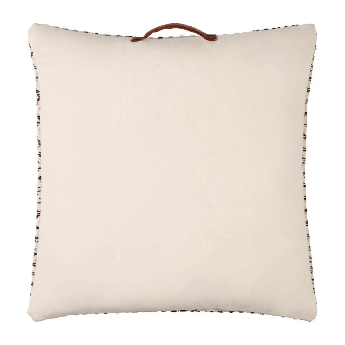 Cotton Floor Cushion 75x75cm Black and White  n°3