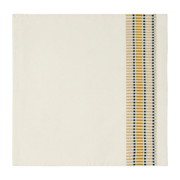 Set of 4 Mustard Patterned Napkins  n°1