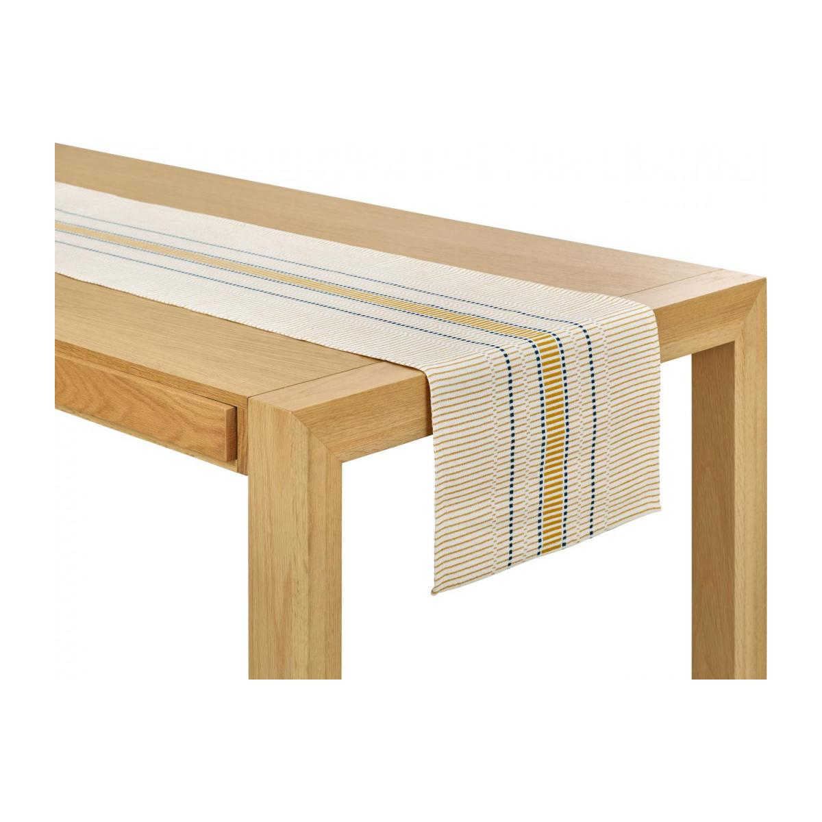 Mustard Patterned Table Runner n°1