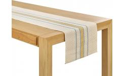Chemin de table avec motif moutarde
