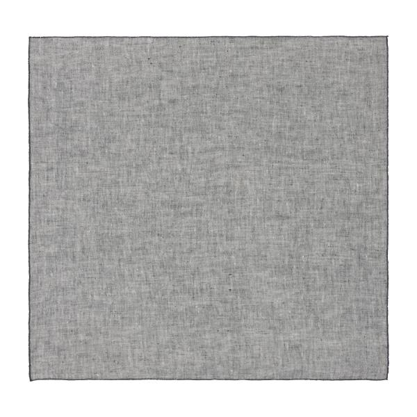 Lot de 2 serviettes de table en lin - 45 x 45 - Gris