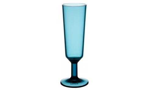 Acrylic Champagne Flute Blue
