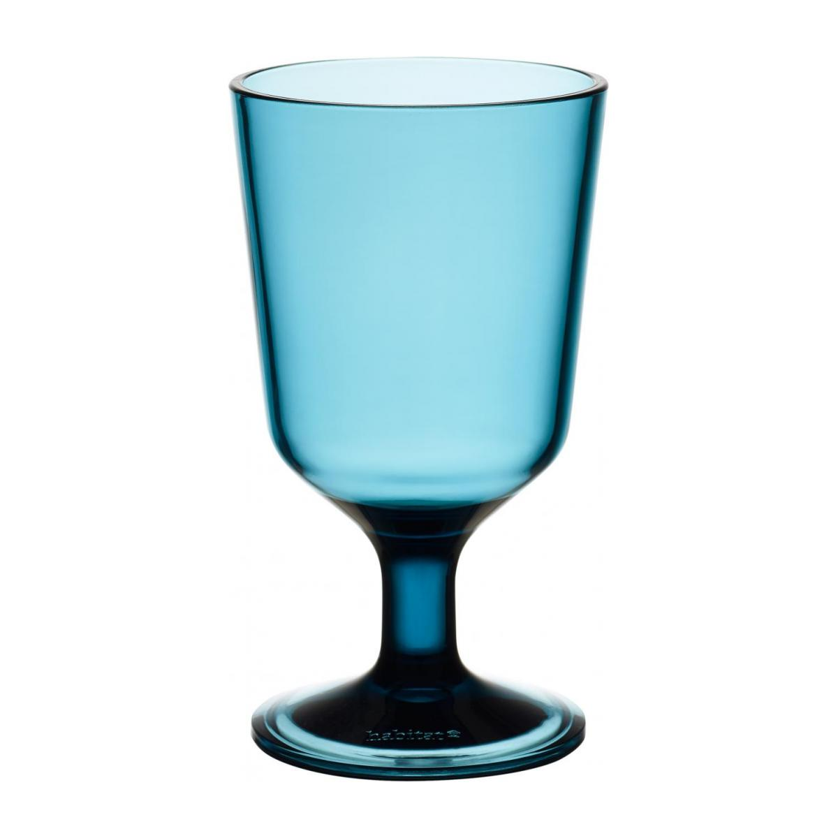 Acrylic Wine Glass Blue n°1