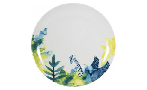 Luna Patterned Porcelain Dinner Plate D27cm