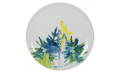 Luna Patterned Porcelain Side Plate D21.5cm