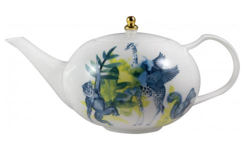 Luna Patterned Porcelain teapot