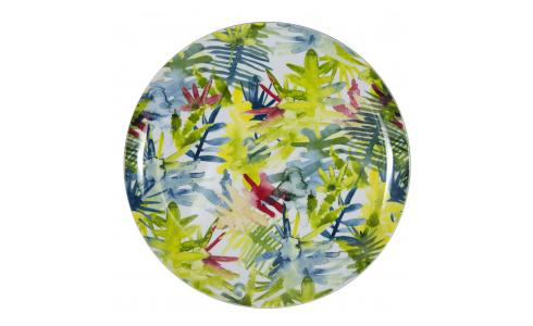 Luna Patterned Melamine Dinner Plate D26cm