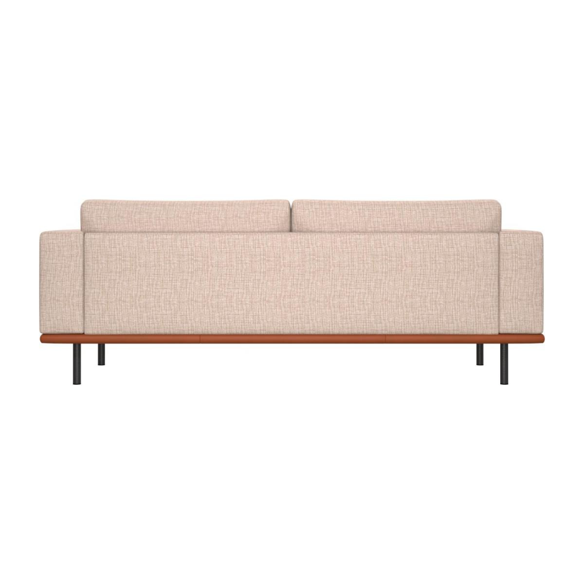 3 seater sofa in Ancio fabric, nature with base in brown leather n°3