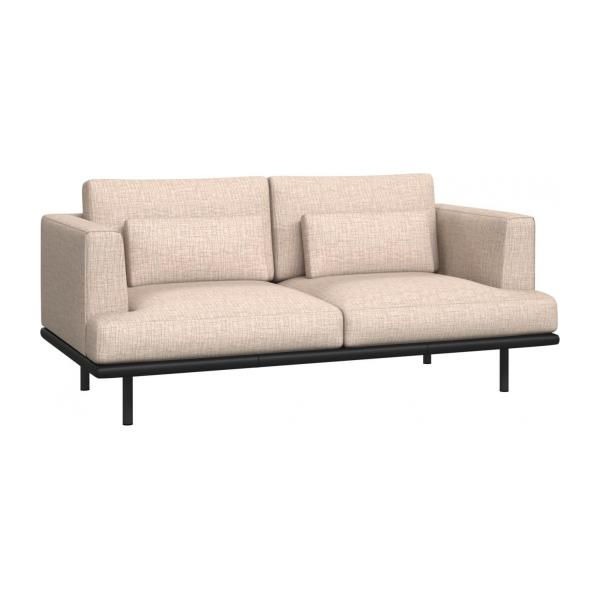 2-seter sofa Ancio natur med base i sort skinn n°1