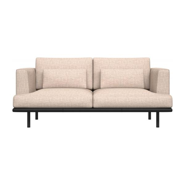 2-seter sofa Ancio natur med base i sort skinn n°2