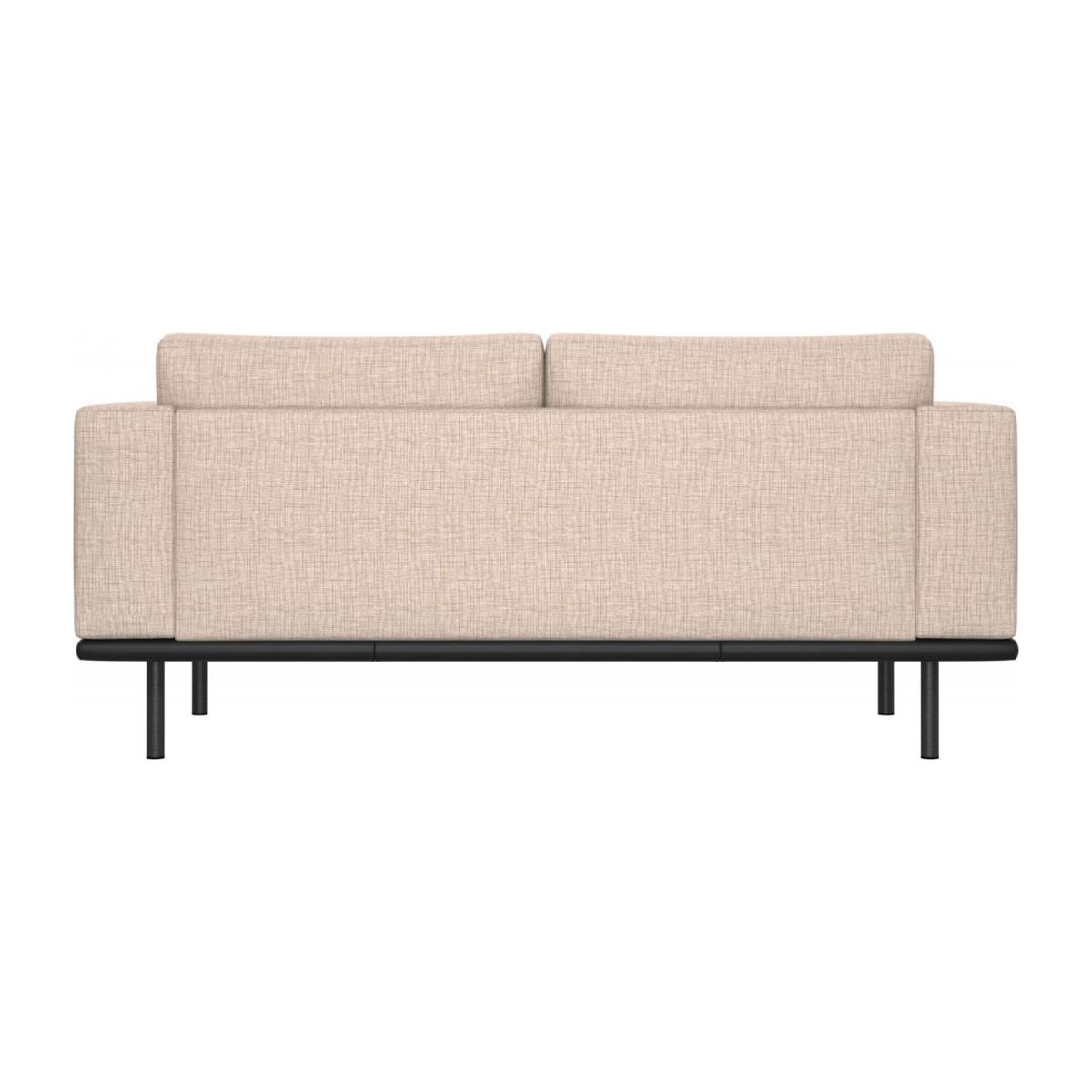 2 seater sofa in Ancio fabric, nature with base in black leather n°3