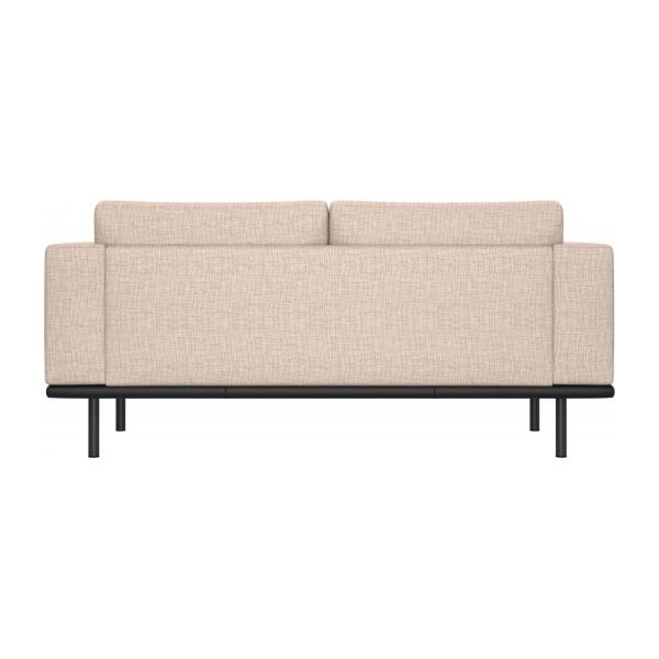 2-seter sofa Ancio natur med base i sort skinn n°3