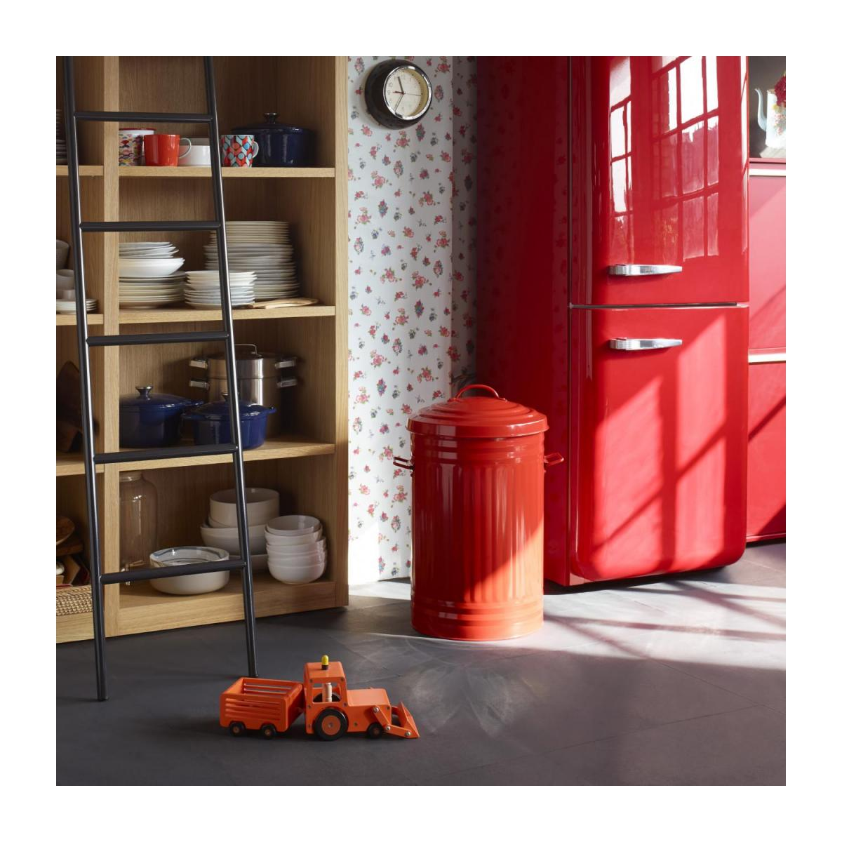 Round trash can, red 52L n°10