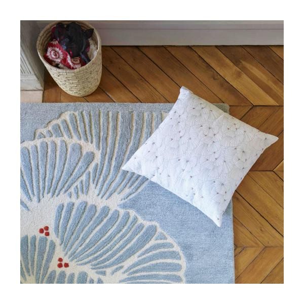 Embroidered quilted cushion made of cotton 50x50cm n°5