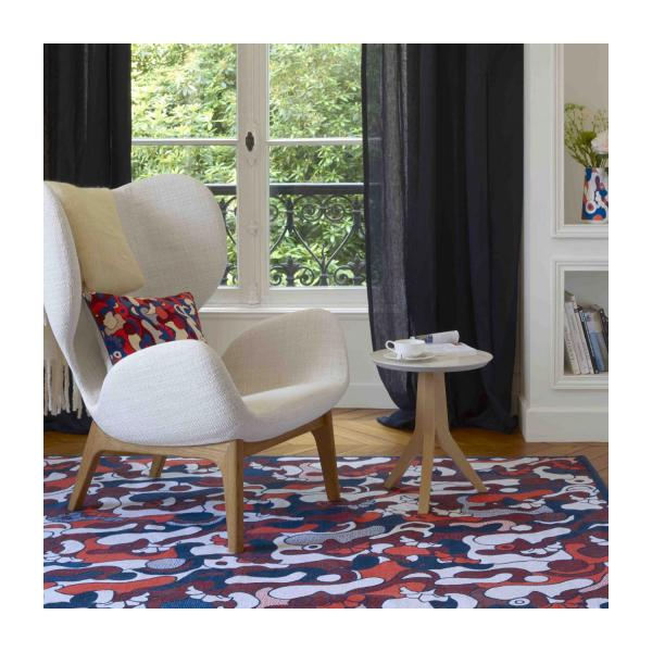 Printed and embroidered carpet made of cotton 220x150cm - Design by Floriane Jacques n°4