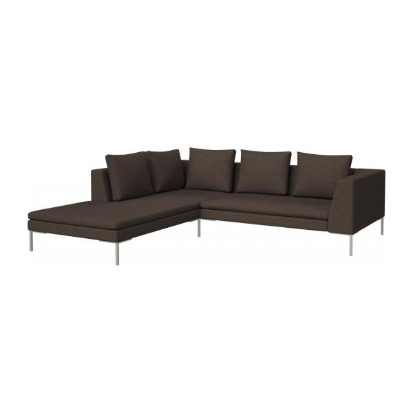montino 2 sitzer sofa aus stoff lecce muscat mit chaiselongue links habitat. Black Bedroom Furniture Sets. Home Design Ideas