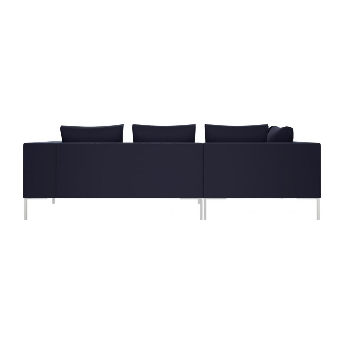 2 seater sofa with chaise longue on the left in Super Velvet fabric, dark blue  n°3