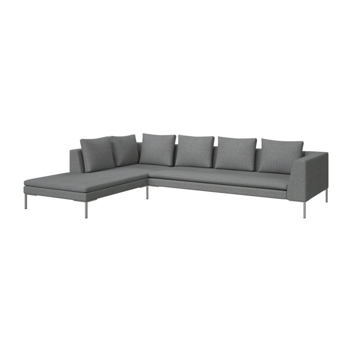 3 seater sofa with chaise longue on the left in Lecce fabric, blue reef  n°1