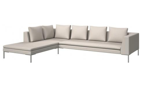 3-Sitzer Sofa aus Stoff Fasoli snow white mit Chaiselongue links