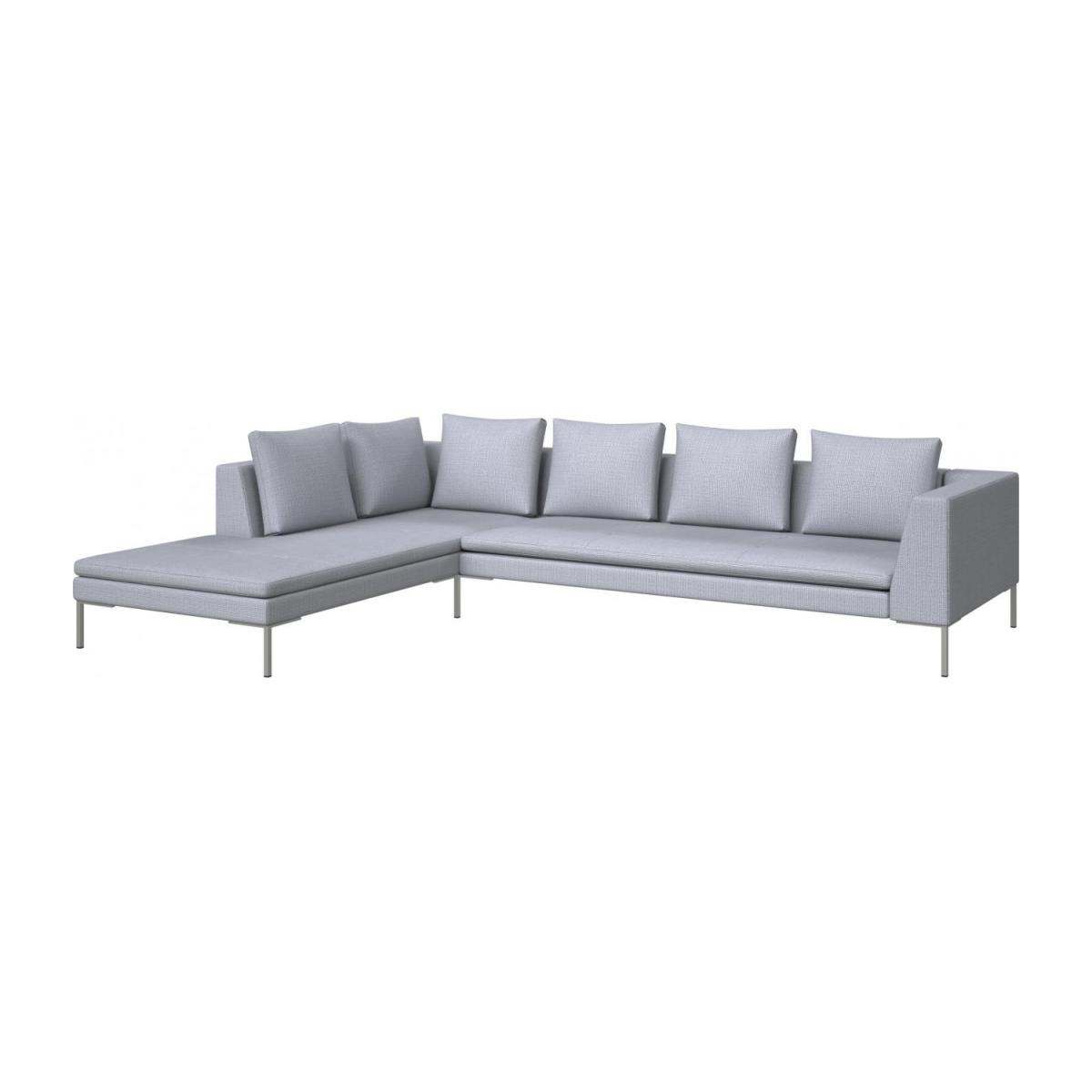 3-Sitzer Sofa aus Stoff Fasoli grey sky mit Chaiselongue links