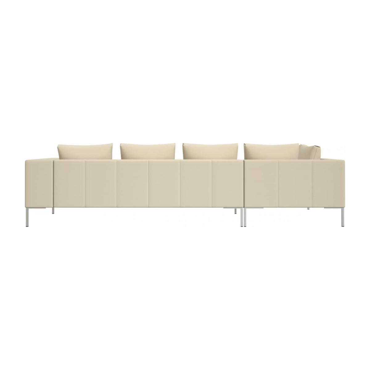 3 seater sofa with chaise longue on the left in Savoy semi-aniline leather, off white  n°3