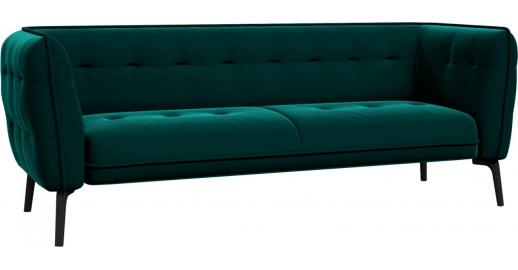 como 3 sitzer sofa aus samt petrol blue dunkle f e habitat. Black Bedroom Furniture Sets. Home Design Ideas