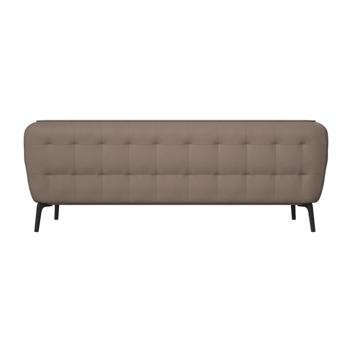 3 seater sofa in Eton veined leather, stone and dark feet n°3