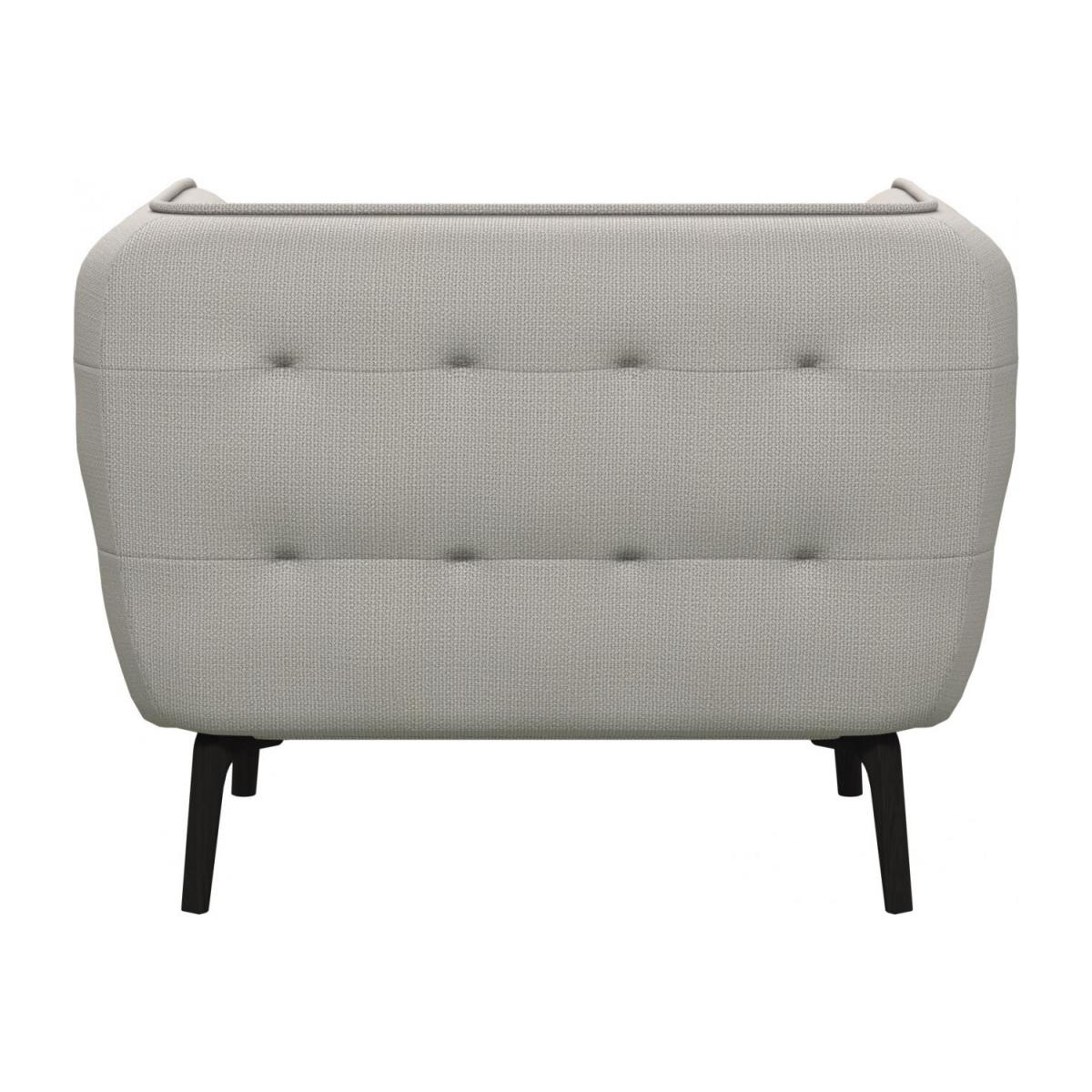 Armchair in Fasoli fabric, snow white and dark legs n°3
