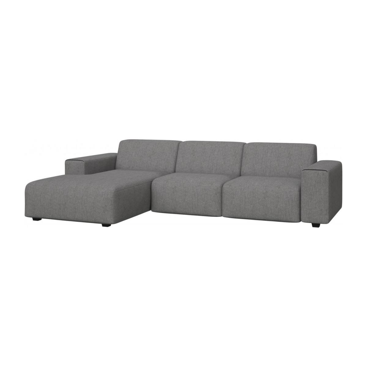 3 seater sofa with chaise longue on the left in Ancio fabric, river rock n°1