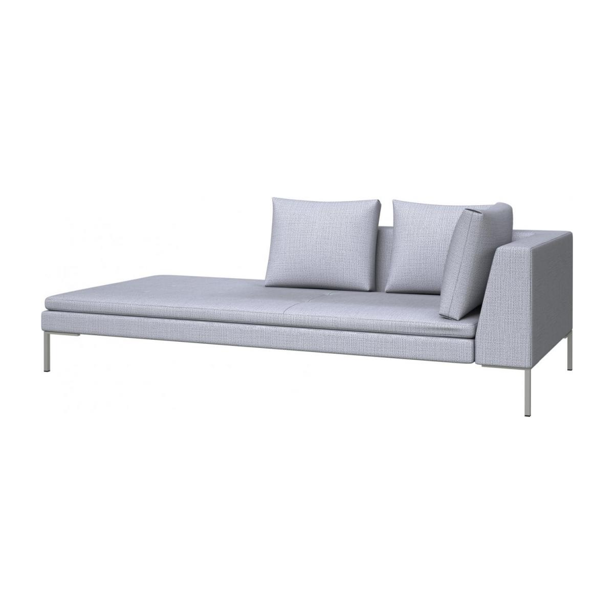 Left chaise longue in Fasoli fabric, grey sky