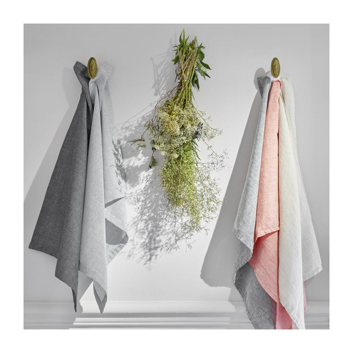 Kitchen towel 50x70cm made of flax, coral n°2