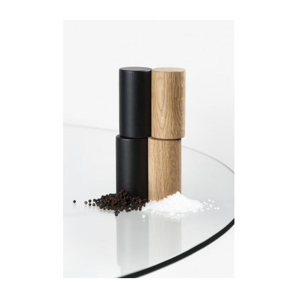 Salt & pepper mill made of oak, teinted - Design by Alvaro Goula n°4