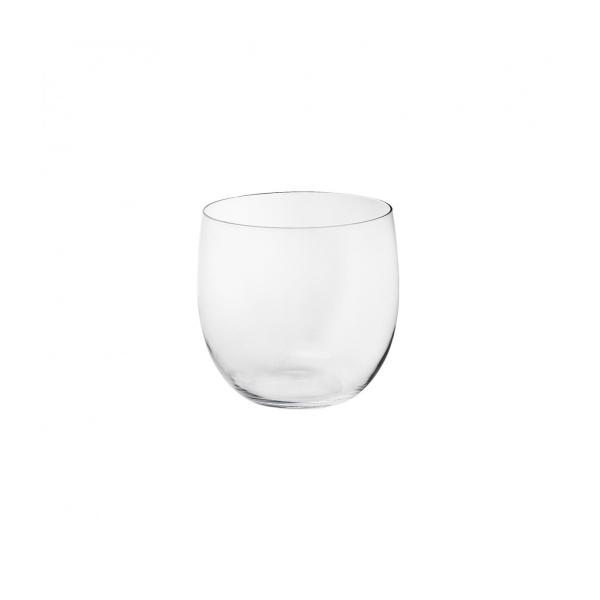 Clear glass planter 20cm