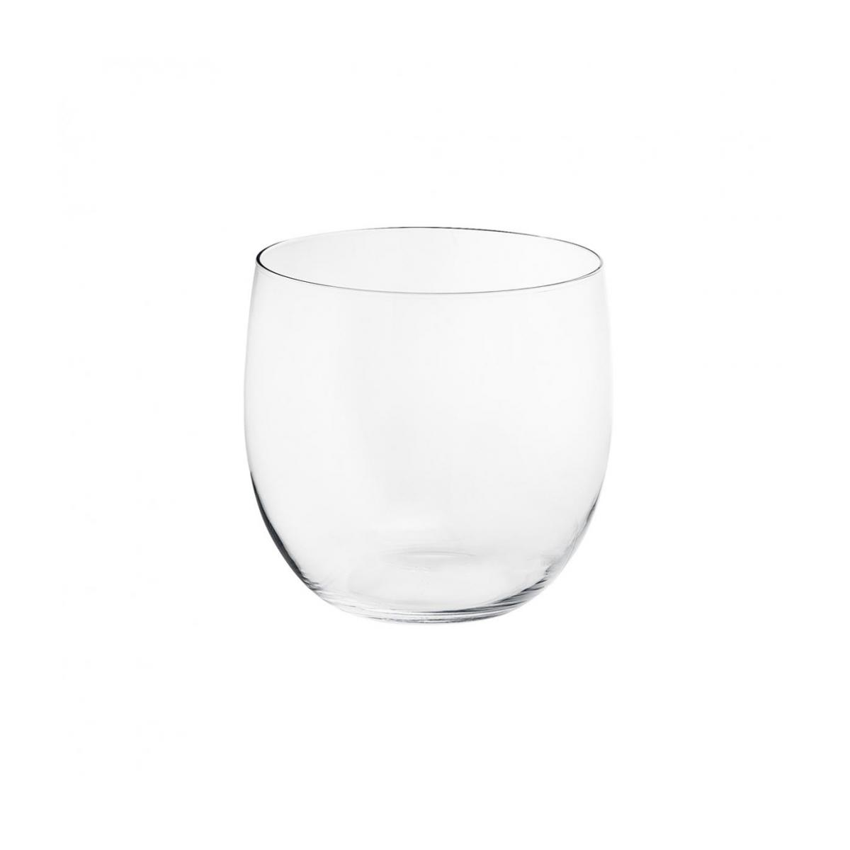 Cache-pot 27cm en verre transparent