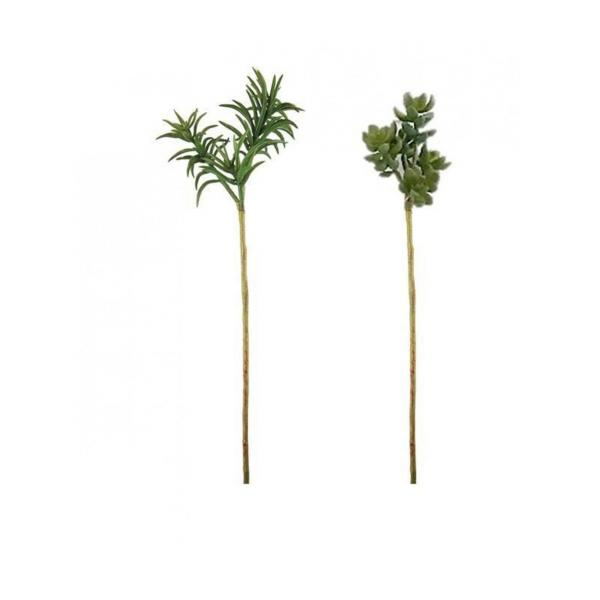 Set of 2 artificial succulent plants 30cm