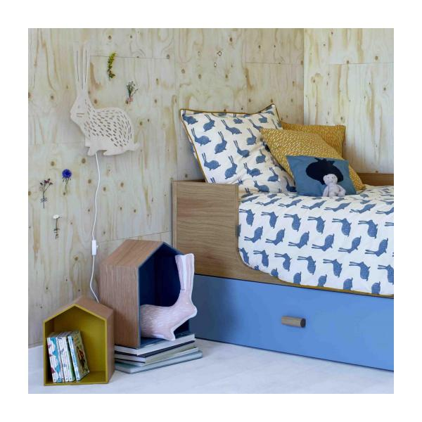 milk applique lapin 47cm en bois habitat. Black Bedroom Furniture Sets. Home Design Ideas
