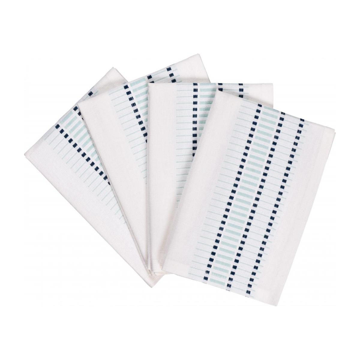Line Set Of 4 Celadon Patterned Napkins Habitat