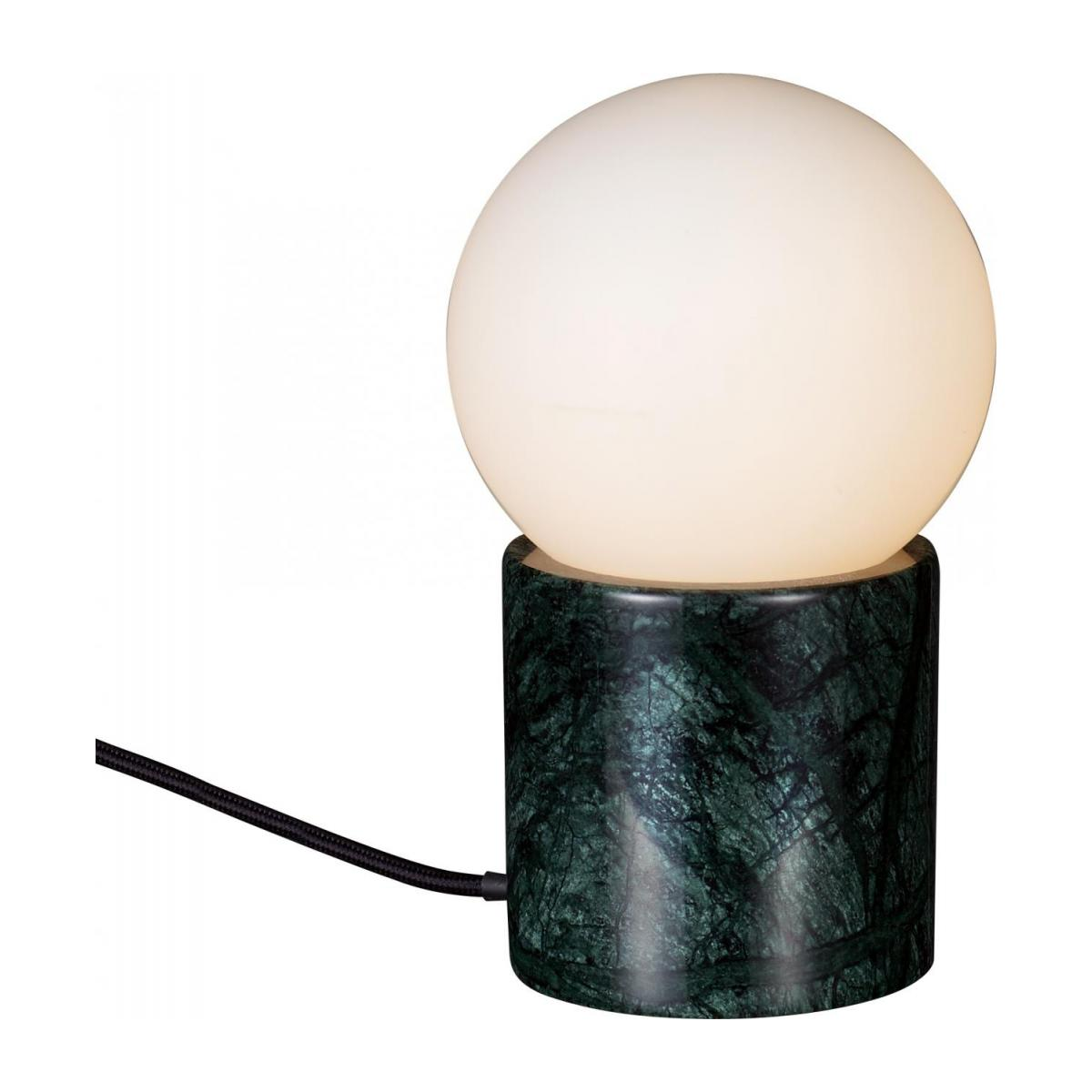 Lampe de table en marbre verre/Marble Table Lamp Green
