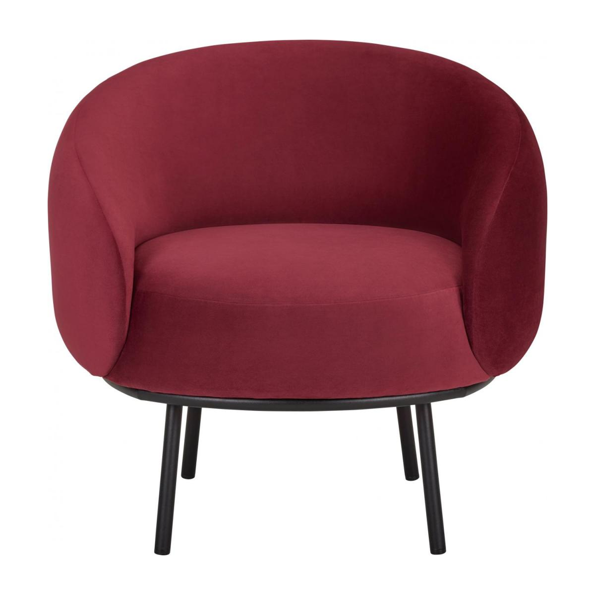 Fauteuil en velours - Lie-de-vin  - Design by Adrien Carvès n°3