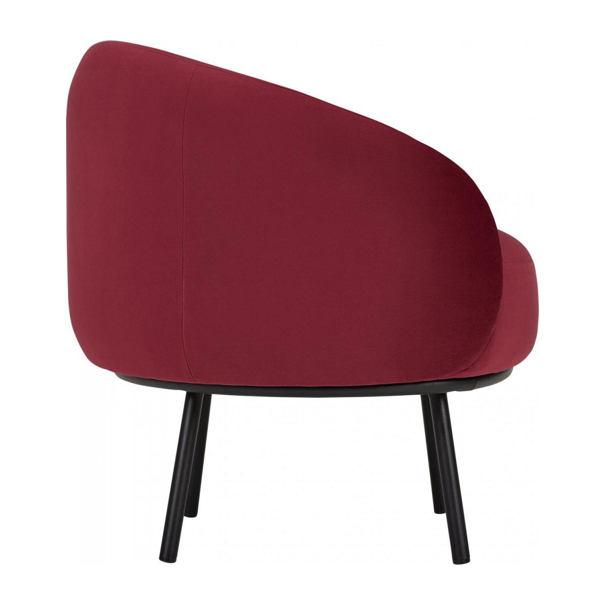 Fauteuil en velours - Lie-de-vin  - Design by Adrien Carvès n°5