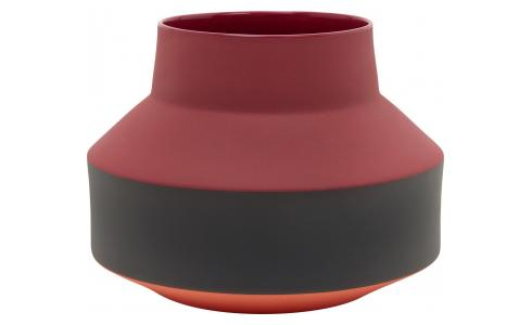 Vase aus Steinzeug, bordeauxrot - Design by Myriam Mortier