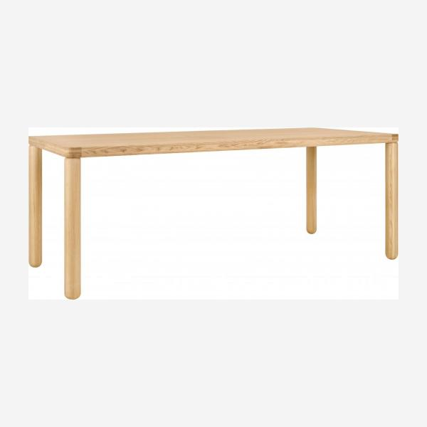 Table in clear ash wood