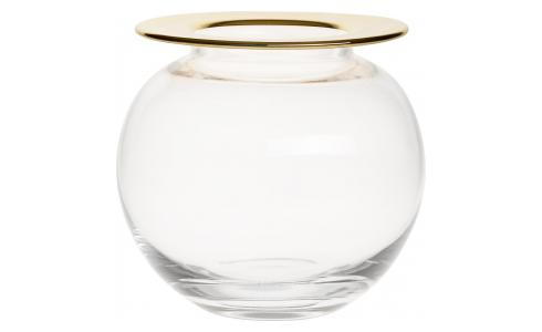 Vase rond - Bord or - Verre
