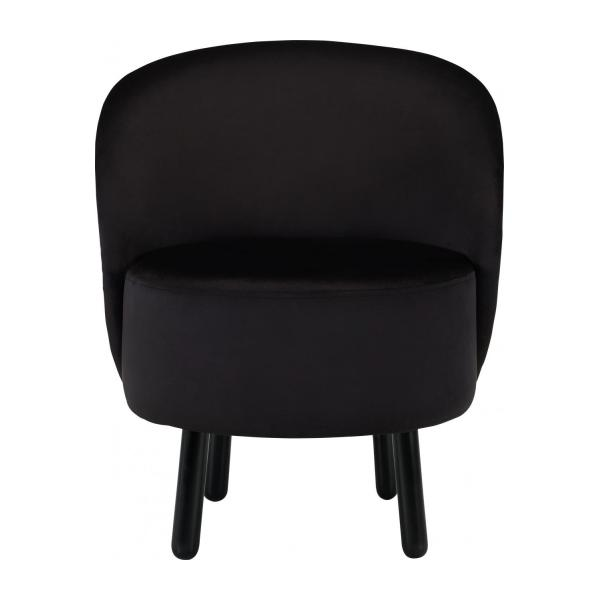 bold fauteuil en velours noir habitat. Black Bedroom Furniture Sets. Home Design Ideas