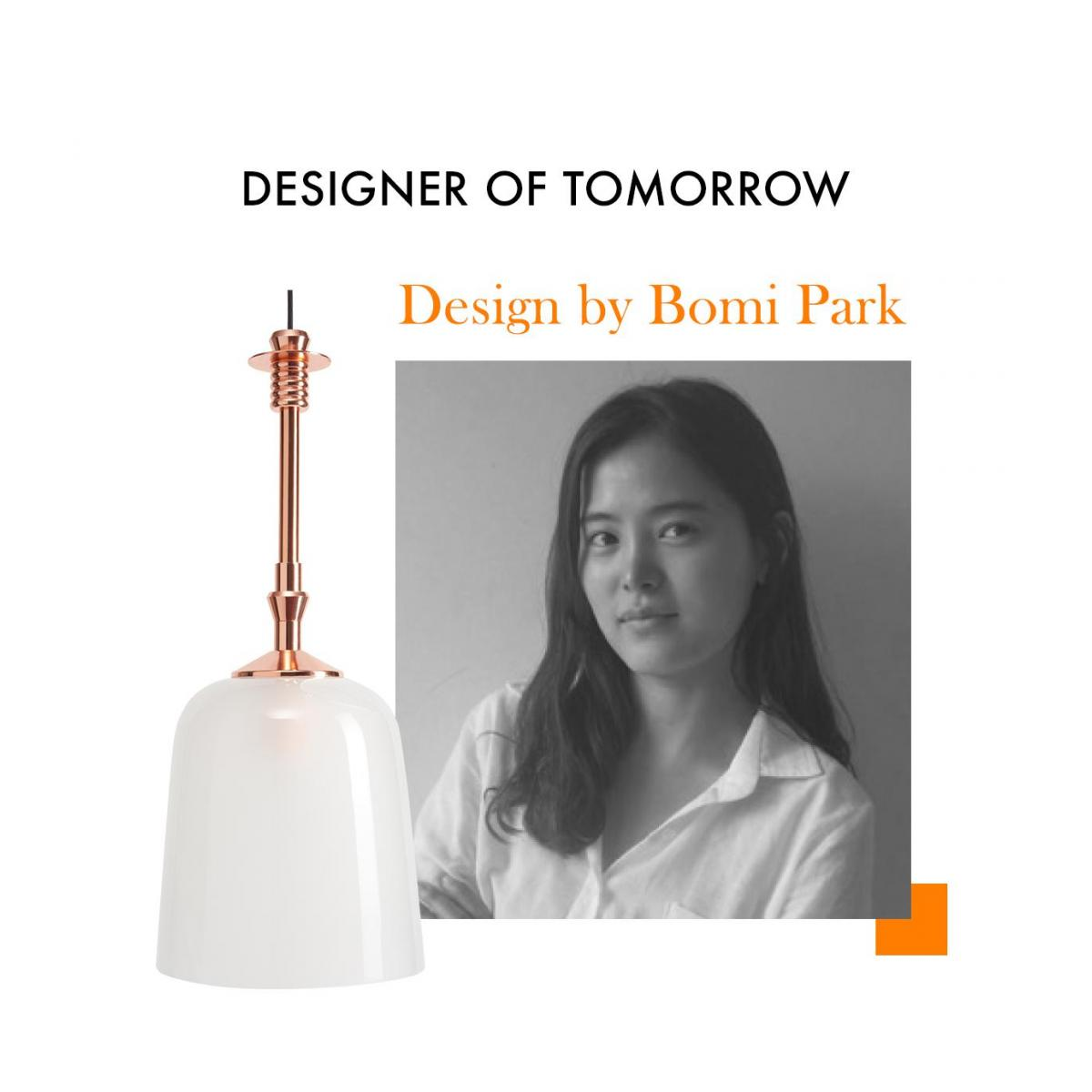 Copper and glass pendant - Design by Bomi Park n°2