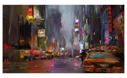 Tableau Rainy New York 89cm x 106cm