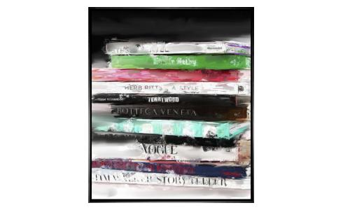 Tableau Fashion books 76,2cm x 91,44cm